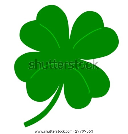 four leaf clover - shamrock vector - stock vector