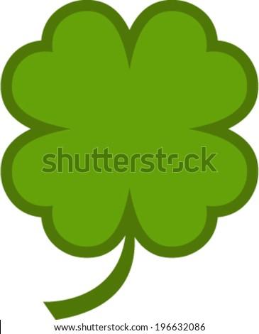 Four leaf clover vector icon - stock vector