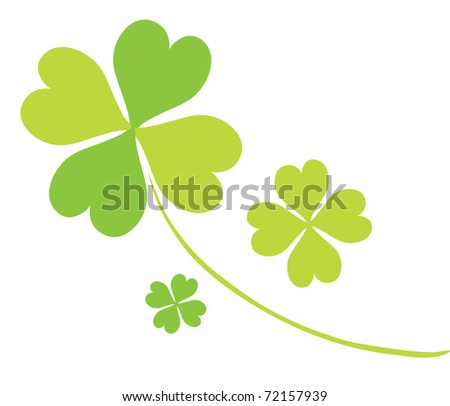 four leaf clovers for St. Patrick's Day - stock vector