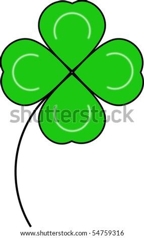 four leaf shamrock vector for st. patricks day - stock vector