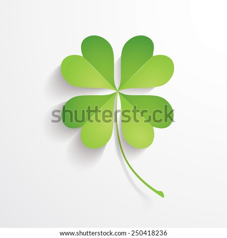 Four leaves clover - stock vector