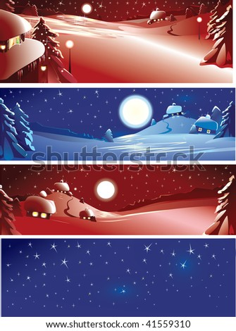 Four Pretty Xmas Cards Merry Christmas Stock Vector 41559310 ...