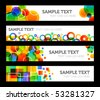 Four Rainbow-colored Banners - stock vector