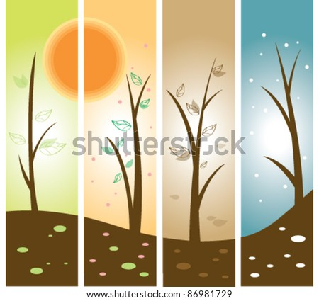 Four Season - stock vector