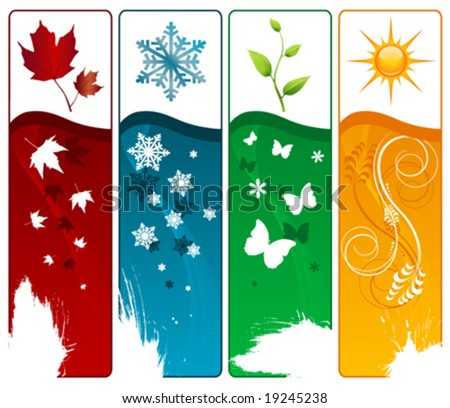 four season vector - stock vector