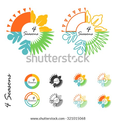 four seasons logo stock vector 321015068 shutterstock