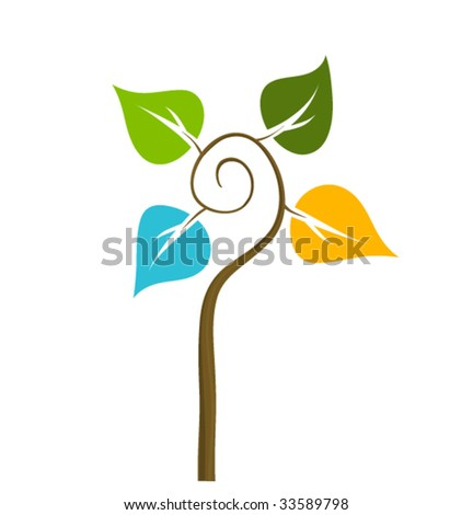 four seasons symbol - stock vector