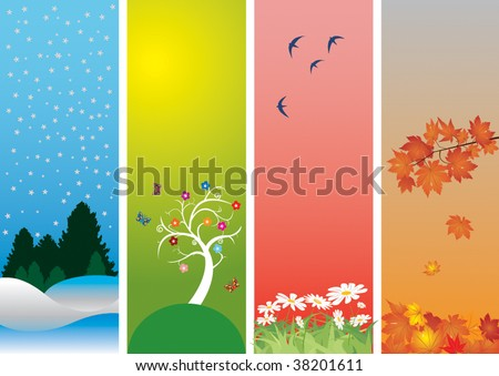 Four Seasons. Winter, spring, summer and autumn