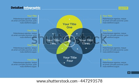 Four Sides Venn Diagram Slide Template Stock Vector Hd Royalty Free