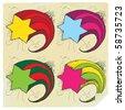 Four stars letter paper - stock vector