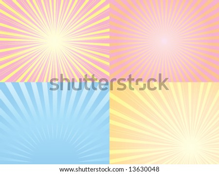 Four sunbeam illustration