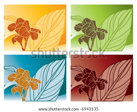 Four trendy vector backgrounds. Can be used for many things - including ads and websites. - stock vector