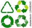 four various recycle icons - stock vector