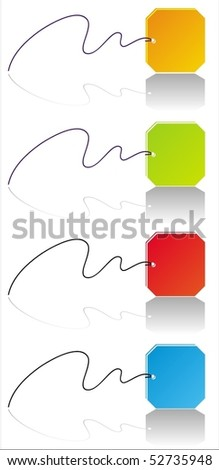 Four vector colorful labels