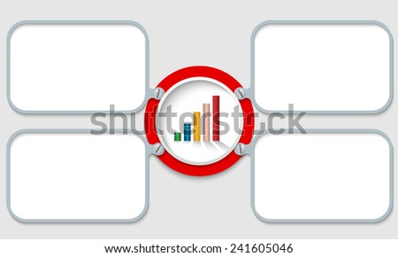 four vector frames for text and graph - stock vector