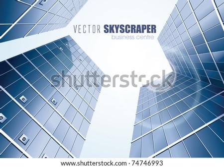 Four VECTOR Skyscrapers - stock vector
