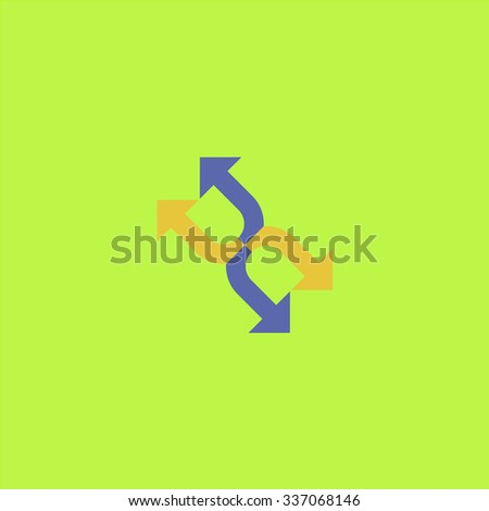 Fourfold Arrow. Icon Vector. Icon Picture. Icon Graphic. Icon Art. Icon JPG. Icon JPEG. Icon EPS. Icon AI. Icon FLAT. Icon SIMPLE - stock vector