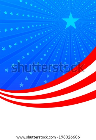 Fourth of july american independence with stars