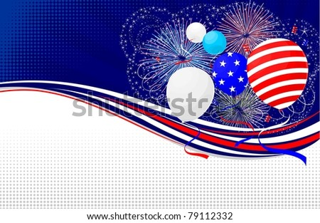 Fourth of July banner - stock vector