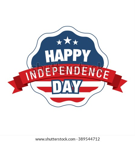 Fourth of July. Independence day. Vector sign - stock vector