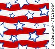 Fourth of July Stars and Stripes Seamless Background � Vector Version - stock vector