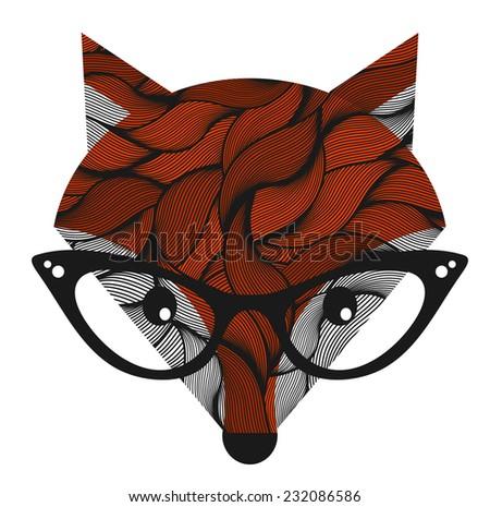 Fox. Vector illustration. - stock vector