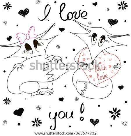 Foxes Love Saint Valentine Card Background Vector 363677732 – Saint Valentine Card