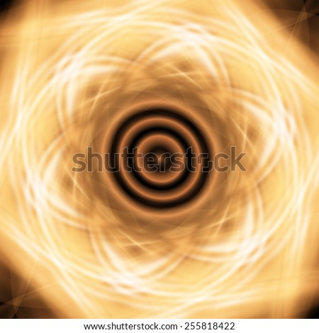 fractal gold abstract square light neon background vector - stock vector