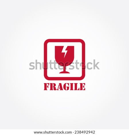 Fragile Symbol - stock vector