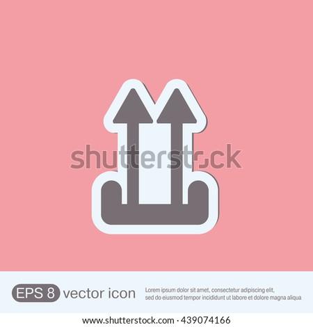 Fragile symbol, arrow up. logistic icon.  - stock vector