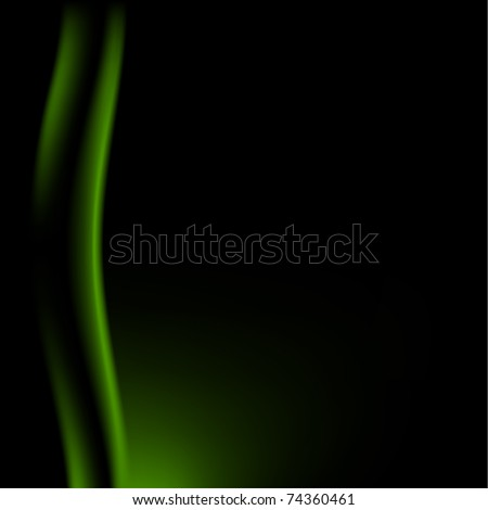 Fragment dark green stage curtain on a black background. Mesh technique - stock vector