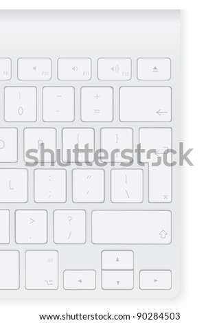 fragment of the standard en_US keyboard - stock vector