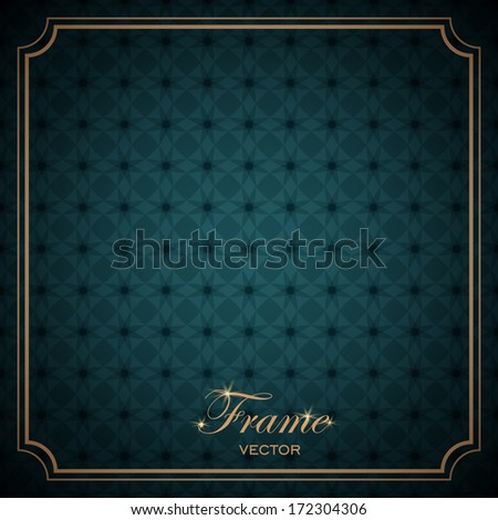 Frame and seamless ornament. Vector - stock vector