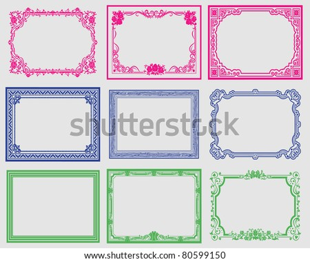 frame border - stock vector