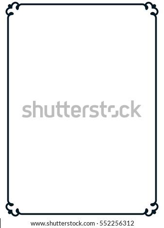Frame Border Line Page Vector Vintage Stock Vector