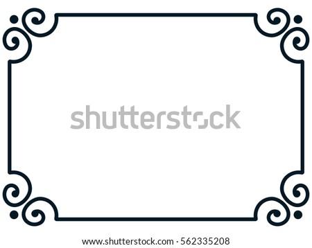 frame border line page vector vintage stock vector 2018 562335208 rh shutterstock com border vectors free download border vector art