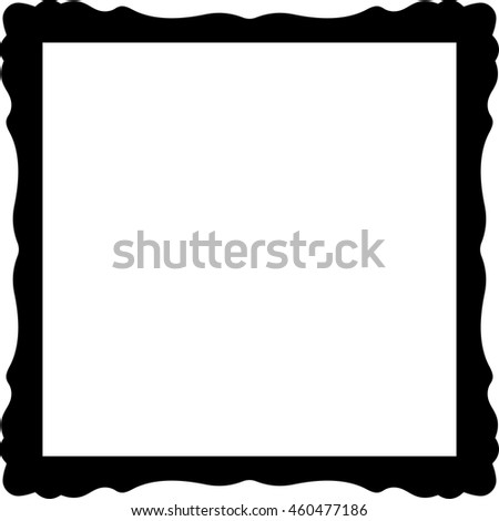 Frame border square beautiful vector vintage isolated
