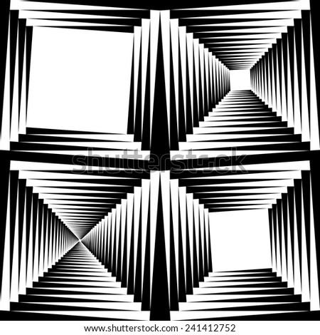 Frame created from slightly rotated squares - stock vector