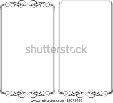 Frame Designs - stock vector