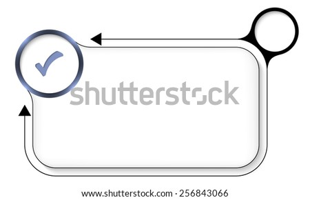 frame for any text with check box and arrows - stock vector