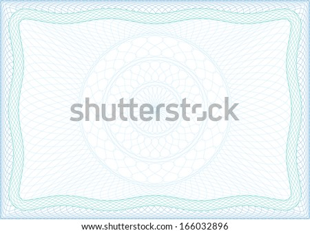 Frame for diploma, certificate or voucher. - stock vector