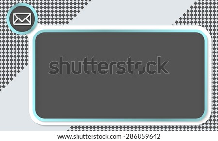Frame for your text and envelope - stock vector