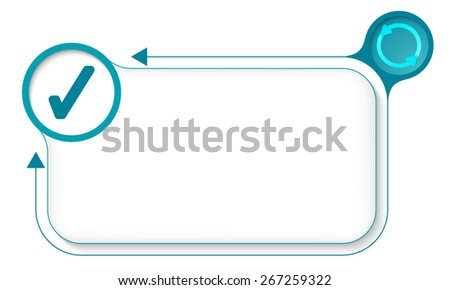 Frame for your text with arrows and check box - stock vector