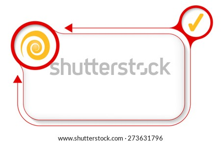 Frame for your text with spiral and check box - stock vector