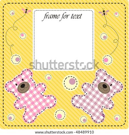 frame girl - stock vector