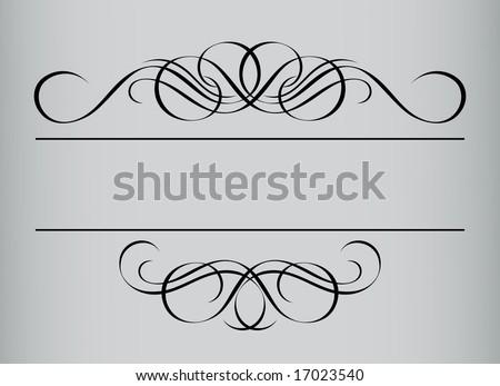 Frame in vintage style. Symmetric inward. Vector Illustration - stock vector