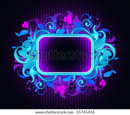 Frame is decorated design elements - stock vector