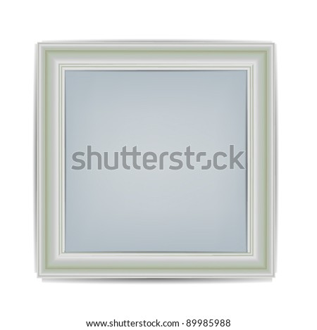Frame isolated on white - stock vector