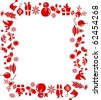 Frame made from Christmas graphic elements - stock photo