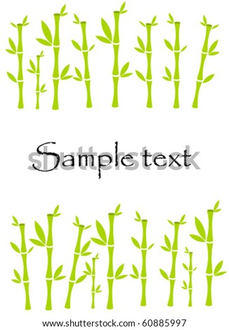 Frame made of lucky bamboo plants. Vector with copy space - stock vector